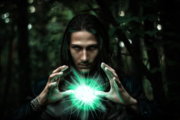 long haired man with psychic ability