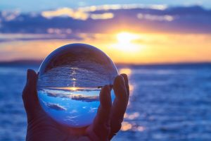 looking through a crystal ball