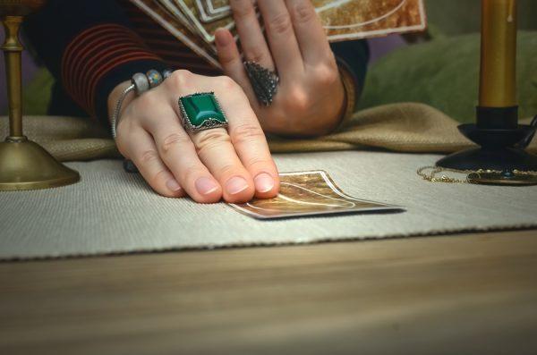 reading tarot cards