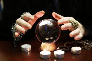 medium seeing through crystal ball